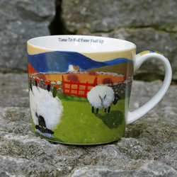 Tasse TIME TO PUT EWER´S FEET UP - Schafmotiv aus Irland