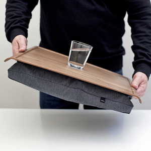 Lap Tray - WALNUT & SALT and PEPPER Antislip - Bosign