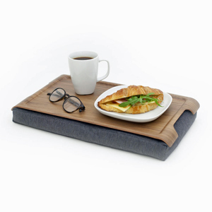Mini Lap Tray - WALNUT & SALT and PEPPER Antislip - Bosign
