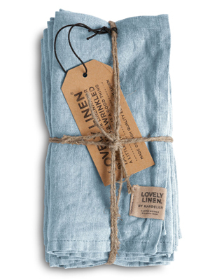 Stoffervietten Leinen SKY Misty - Lovely Linen