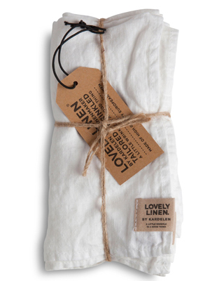 Stoffervietten Leinen CLOUD Misty - Lovely Linen