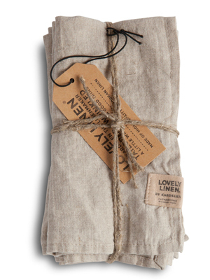 Stoffervietten Leinen MEADOW Misty - Lovely Linen