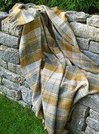 Wolldecke - SNOWSHILL Mustard Check - Plaid