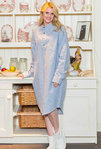 Flanell Nightshirt - BLARNEY BLUE CREAM - Lee Valley Nachthemd