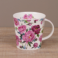 Dunoon Becher - COTTAGE BLOOMS Peony - Cairngorm