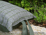 Kniekissen Tweedmill - GREY & GREEN Check - Wolle
