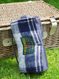 Outdoordecke Tweedmill WALKER Wolle - Navy Bannockbane
