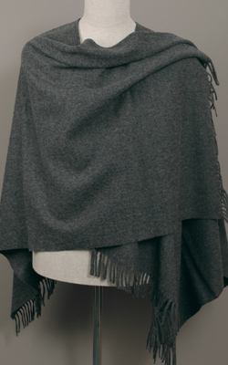 Poncho MINI - Lambswool - GREY - Bronte Tweeds