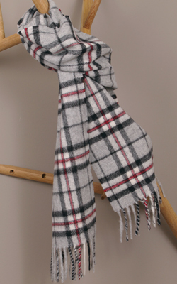 Wollschal - GREY THOMPSON Tartan - Bronte Tweeds