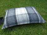 Kniekissen Tweedmill - Cottage Grey - Wolle